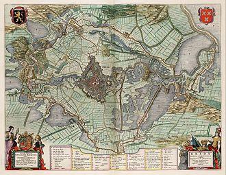 Siege of Breda (1637) - Map of the Siege of Breda by Johannes Blaeu.