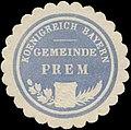 Siegelmarke Gemeinde Prem K. Bayern W0352295.jpg