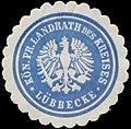 Siegelmarke K.Pr. Landrath des Kreises Lübbecke W0387607.jpg