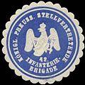 Siegelmarke K.Pr. Stellvertretende 42. Infanterie-Brigade W0379149.jpg