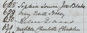 Edinburgh Seven - Matriculation Signatures: Sophia Jex-Blake, Mary Pechey, Helen Evans, Matilda Chaplin