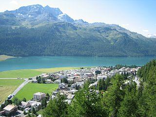 Silvaplana Place in Graubünden, Switzerland