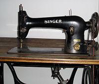 Singer sewing machine (detail 1)