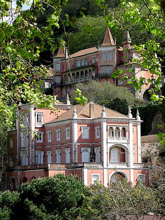 Portuguese Riviera - Sintra, a UNESCO World Heritage landscape, is famed for its numerous historic estates, including the Palace of Setais (top), the Casa dos Penedos (middle), and the Palácio Valenças (bottom).