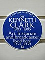 Sir KENNETH CLARK 1903–1983 Art historian and broadcaster lived here 1934–1939.jpg