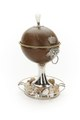 Skål av kokosnöt, invändigt lös skål av förgyllt silver - Skoklosters slott - 91918.tif
