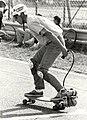 Skate board met motor op het circuit. Geschonken in 1986 door United Photos de Boer bv. Identificatienummer 54-005234.JPG