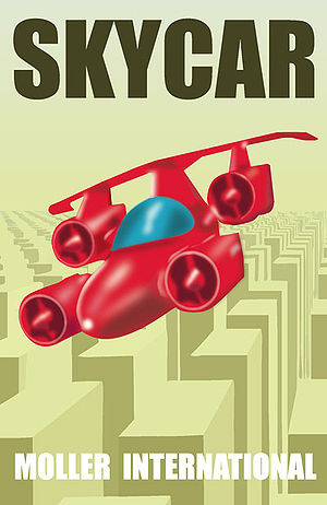 Moller M400 Skycar - A poster advertising the Skycar