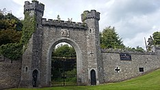 Entrance gate to an Irish castle