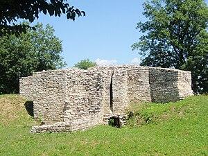 Sławków - Image: Slawkow ruiny zamku