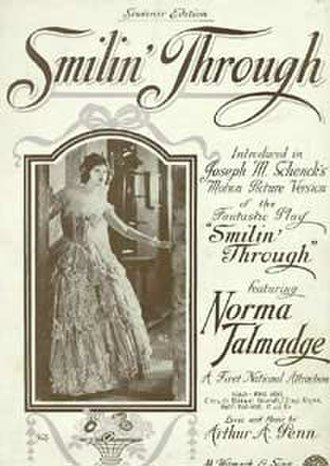 Smilin' Through (1922 film) - 1922 music sheet with movie cover