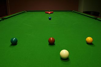Rules of snooker - Image: Snooker Table Start Positions