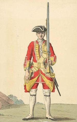 Royal Warwickshire Regiment - Soldier of 6th regiment, 1742