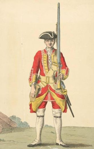 Royal Warwickshire Regiment - Soldier of 6th regiment, 1742