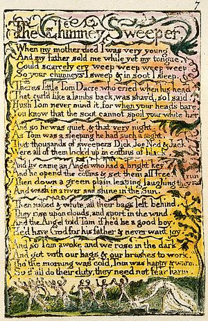 The Chimney Sweeper - Image: Songs of Innocence and Experience Copy L 1795 The Chimney Sweeper