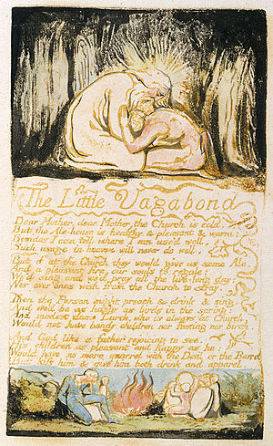 The Little Vagabond - The Little Vagabond as it appeared in Songs of Experience, 1794 in copy B of the Songs of Innocence and of Experience, which is held at the British Museum.