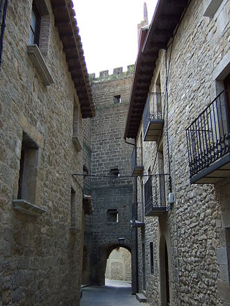 Cinco Villas, Aragon - City-wall gate in Sos del Rey Católico.