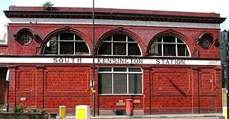 South Kensington tube station - Image: South Kensington station building