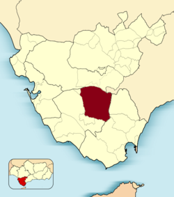 Municipal location in the Province of Cádiz
