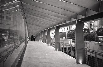 Spencer Street Bridge - Image: Spencer street footbridge