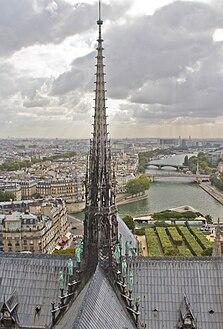 Spire of Notre-Dame de Paris, September 2013