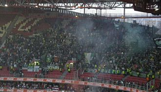 Sporting CP - Sporting fans at the Estádio da Luz during the Lisbon derby (2013)