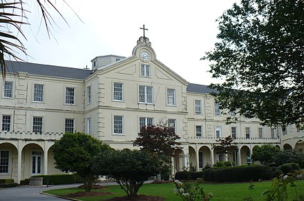 Administration building at Spring Hill College Spring Hill College Quad 01.JPG