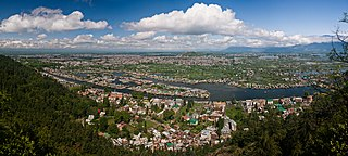 Srinagar City in Jammu and Kashmir, India