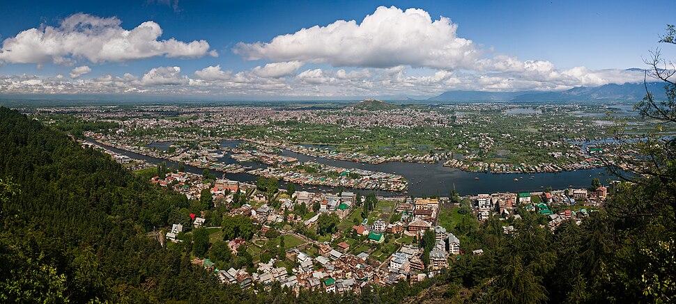 View of Srinagar and Dal Lake