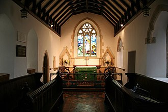 Cambridge Camden Society - A typical restored chancel in a small parish church – St Mary's Church, Mortehoe