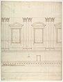 St. Peter's, drum, interior, elevation (recto) St. Peter's, drum, pedestal, section (verso) MET DP819038.jpg