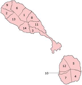 セントクリストファー・ネイビスの行政区画's relation image