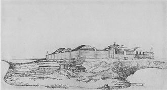 St. Michael Redoubt Site - Drawing of the redoubt, c. 1843, by I. G. Voznesenskii