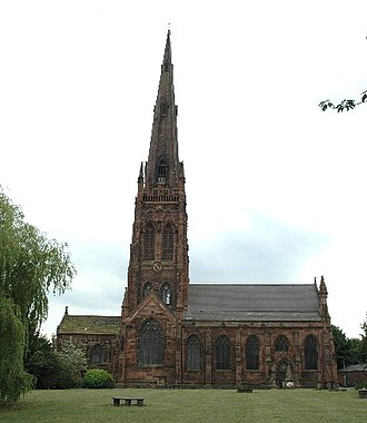Listed buildings in Warrington (unparished area) - Image: St Elphin's Church, Warrington