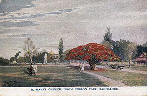 Cubbon Park - Image: St Marks Church From Cubbon Park Bangalore