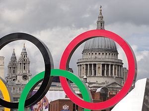St Pauls through Olympic rings.jpg