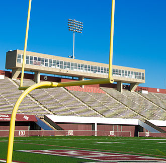 Warren McGuirk Alumni Stadium - McGuirk Stadium's permanent lights, installed August 2008