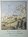 Stadtmuseum Rapperswil - Alt-Rapperswil, Burgruine «alt Rapperschweil». Malerisch-kartografische Radierung Heinrich Brupbacher, ZB Zürich Graphische Sammlung 1794 2013-02-02 16-33-34 (P7700).JPG