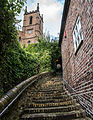 Stairs leading up to the Church of St Luke, Ironbridge.jpg