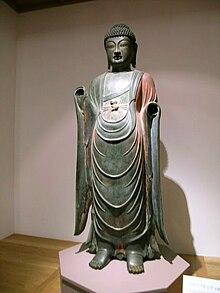 Standing Gilt-bronze Bhaisajyaguru Buddha of Baengnyulsa Temple(백률사 금동약사여래입상)