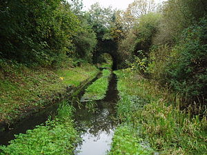 Kidwelly and Llanelly Canal - The bridge which carried Stanley's Tramway over the canal near Pembrey old harbour