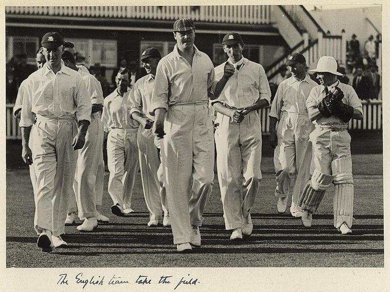 StateLibQld 1 233112 English cricket team at the test match held in Brisbane, 1928.jpg