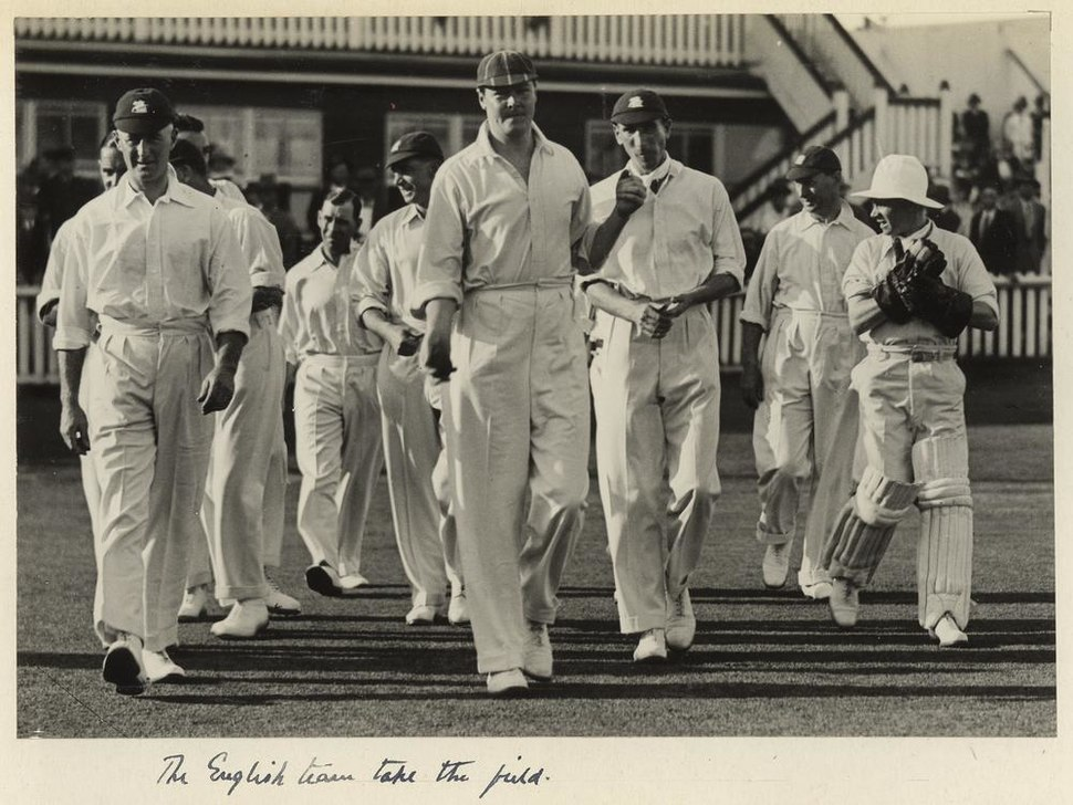 StateLibQld 1 233112 English cricket team at the test match held in Brisbane, 1928