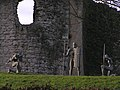 Statues by the walls of Helmsley Castle - geograph.org.uk - 105066.jpg