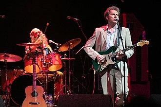Ken Nicol (musician) - Liam Genockey (left) and Ken Nicol at Fairport's Cropredy Convention 2006.