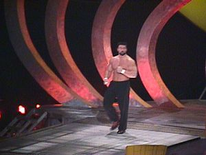 Steve Blackman - Blackman making his way to ring at a SmackDown event in 1999