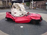 Still Life with Stone and Car by Jimmie Durham on Hickson Road at The Rocks.jpg