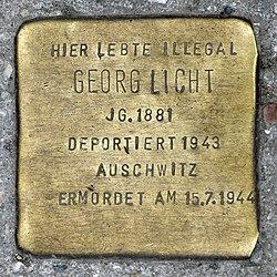 Photo of Georg Licht brass plaque