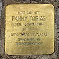 Stolperstein Eschenallee 34 (Westend) Fanny Tobias.jpg