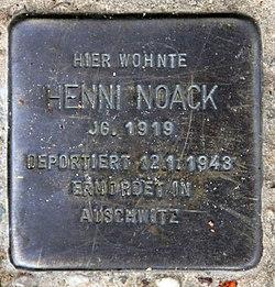 Photo of Henni Noack brass plaque